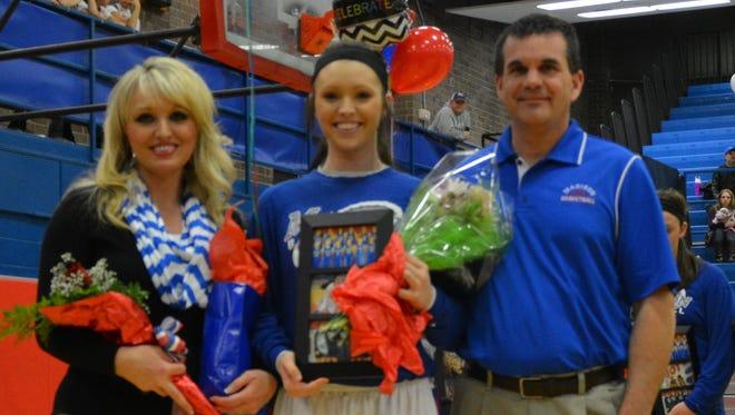Madison senior Baylea Loven and her family.