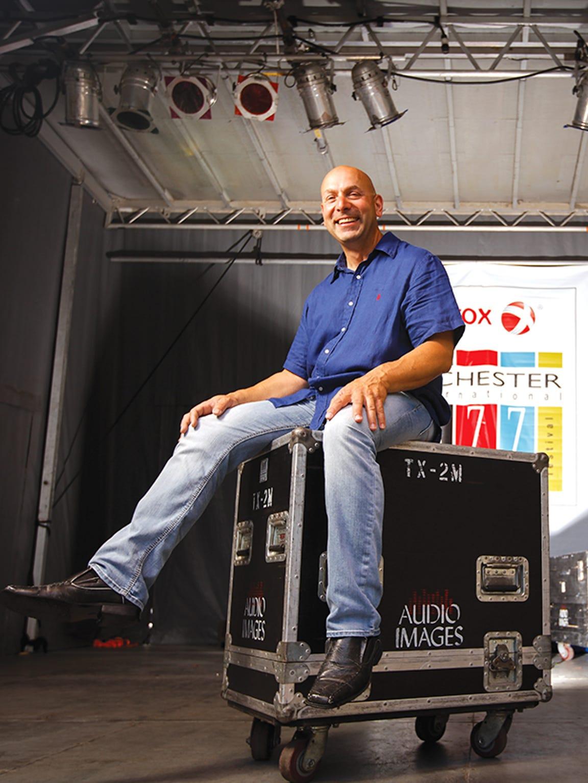 Sebastian Marino's company erects stages, lighting