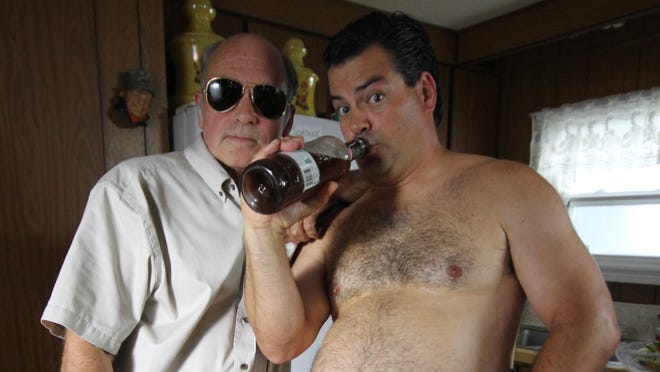 "John Dunsworth and Patrick Roach, who play Randy and Mr. Lahey in ""Trailer Park Boys."""