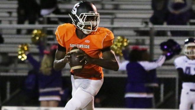 Southside quarterback Jalon Calhoun, who threw for 2,226 yards this past season, has nine scholarship offers.
