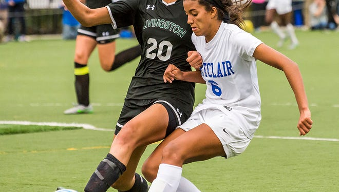 Jillian Jennings (right) of Montclair enjoyed playing three sports and is on a full scholarship for women's soccer at Boston College.