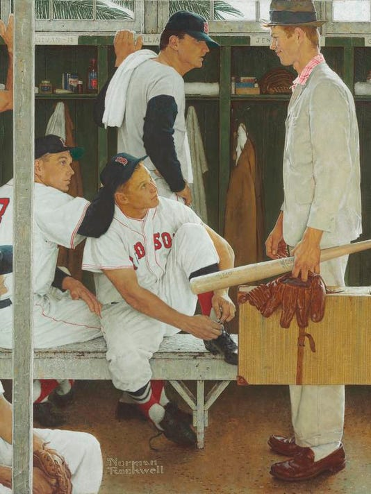 Norman Rockwell Red Sox Baseball