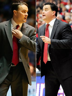 Archie (left) and Sean Miller (right) lead Dayton and Arizona into the Sweet 16.