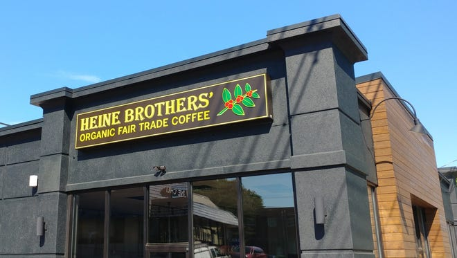 Heine Brothers' new location in front of Mid City Mall