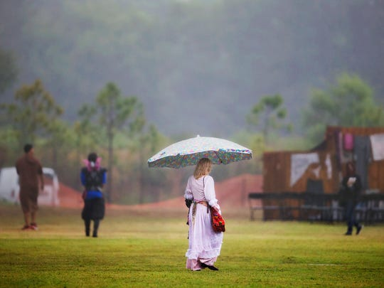 Saturday's rainy and cool weather kept many in Southwest Florida from attending events the Riverdale Kiwanis Medieval Faire at Lakes Regional Park in south Fort Myers. The faire continues Sunday and next weekend.