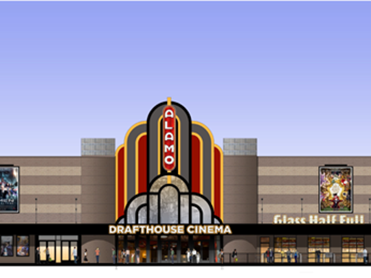 Alamo Drafthouse Cinema provided this rendering of what the former Campbell 16 Cine would look like after renovations. It is set to open in mid-June, a company official said on May 16, 2017.