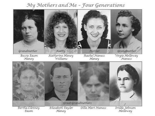Kathy Haney Williams is shown with many generations of her family.