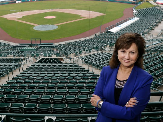 Red Wings president/CEO Naomi Silver at Frontier Field.