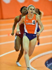 Grace Barnett earned second-place finishes in three events at the ACC Indoor Championships.