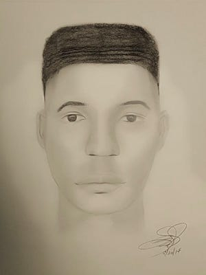 New Castle County police released a sketch of a 13- to 15-year-old boy suspected of sexually assaulting a woman who was running in Pike Creek.