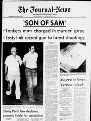 The front page of The Journal News from Aug. 11, 1977, when David Berkowitz was arrested.