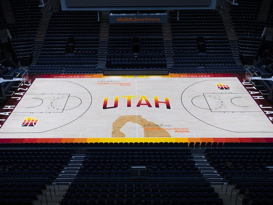Utah jazz honoring southern utah with new uniform for Sport court utah