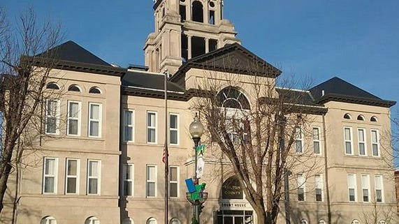 The Fulton County Courthouse in Lewistown.