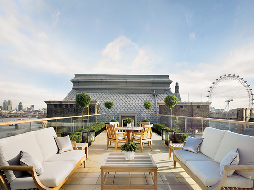 When one luxurious penthouse isn't enough, the stylish and posh Corinthia Hotel London rolls out the red carpet with seven penthouses fit for a king -- the largest at 5,000 square feet.