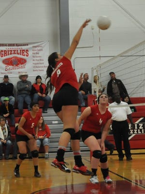The Carrizozo Lady Grizzlies advanced to the quarterfinals of the State Volleyball Championships Nov. 11, falling to Melrose in three games.