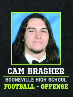 Football player Cam Brasher
