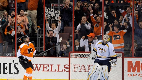 The Flyers won a shootout last time the Predators came to town