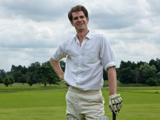 "Robin (Andrew Garfield) enjoys the good life in ""Breathe."""
