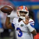 Florida quarterback Treon Harris (3) was the last of the six quarterbacks to start a game under Will Muschamp during his four seasons at Florida.