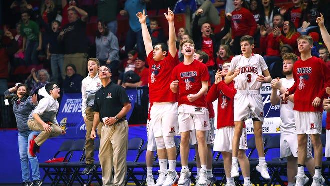 2018 NYSPHSAA Boys Basketball Championships, Floyd L. Maines Veterans Memorial Arena, Binghamton, March 16-17, 2018.