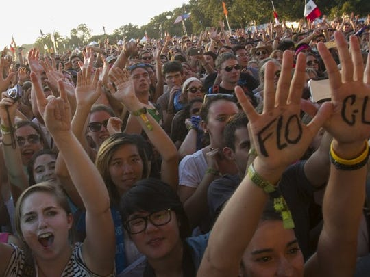 Audience at a Florence and the Machine concert, Austin City Limits Festival, 2012