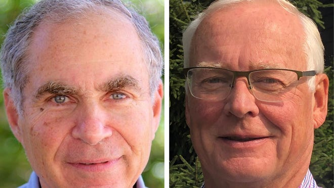 Arthur Greenberg, left, is a professor of chemistry at the University of New Hampshire in Durham and a Rye resident. Dr. Robert Bear is an orthopedic surgeon and a Rye resident.