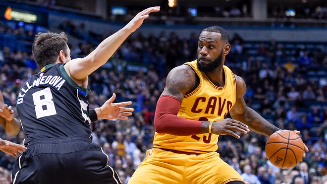 Matthew Dellavedova and the Bucks open their home schedule against LeBron James and the Cleveland Cavaliers.