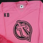 Rye Town/Harrison is raising money for breast cancer research on Monday with a Pink the Rink game against Rivertown.