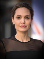 Actress and humanitarian Angelina Jolie.