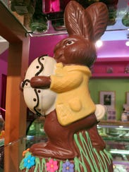 Easter bunnies at Gayle's Chocolates in downtown Royal