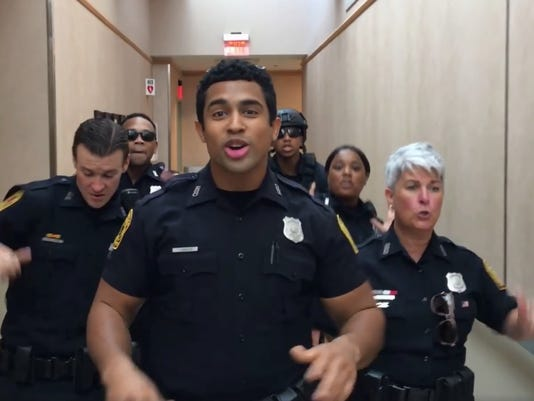 Lip sync challenge to local police departments