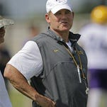 LSU head coach Les Miles returned to practice on Monday after going to the hospital for illness.