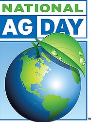 National Ag Day is recognized on March 20, 2018.