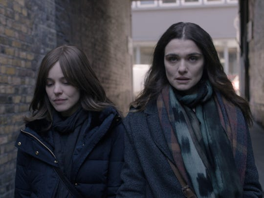 "Rachel  McAdams, left,  stars  as  Esti  Kuperman  and  Rachel  Weisz  as  Ronit  Krushka  in ""Disobedience,"" a  Bleecker  Street  release."