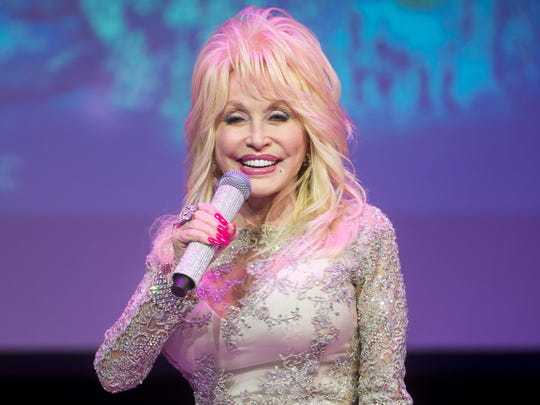 Dolly Parton speaks about Dollywood's Smoky Mountain Christmas and the park's 2018 season during a media event at Dollywood on Nov. 3, 2017.