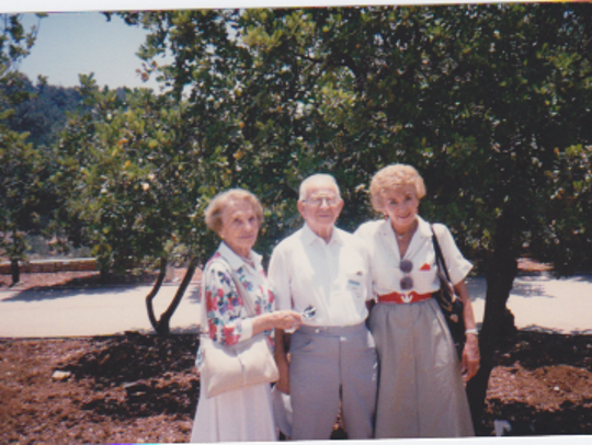 (From left to right) Phyllis, Irvin and Celina Karp