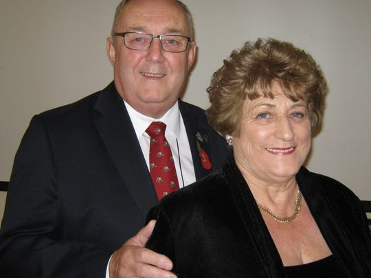District Governor Elect Michael Longdon and his wife Margaret are here representing Rotary District 1220 in England.