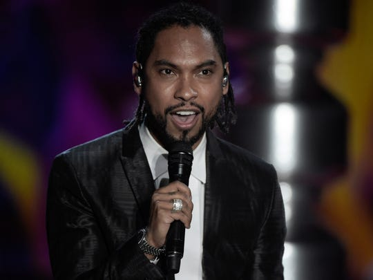 Singer Miguel performed during the 2017 Victoria's Secret Fashion Show in Shanghai on November 20, 2017.