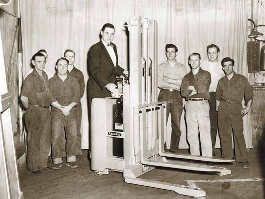 George Raymond Jr. stands on one of Raymond's first