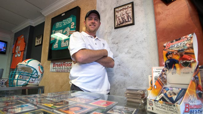 Steve Palmer, is the owner of BreakRoom Sports Cards & Autographs. His new shop is located on Southeast 47th Terrace in Cape Coral.