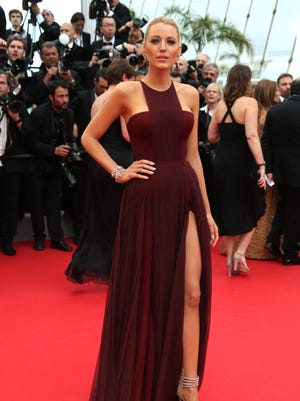 American actress Blake Lively wears Marsala on the red carpet during the 67th international film festival in Cannes.