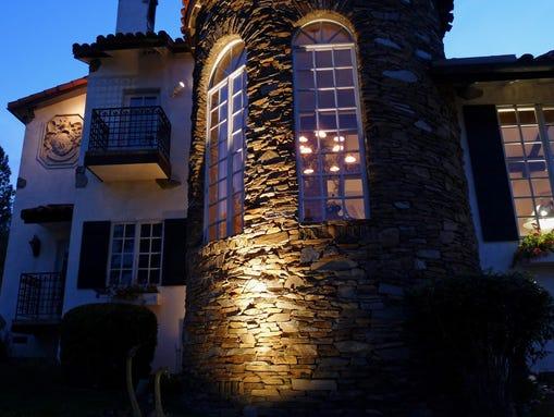 Chateau du Sureau_ Oakhurst_CA_Chateau Tower Night_dj