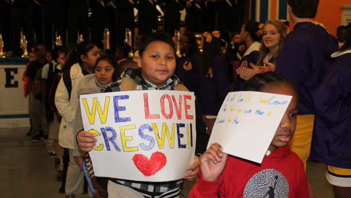 Creswell Elementary students receive