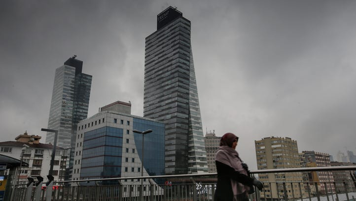 Trump Towers are seen in Sisli district in Istanbul,