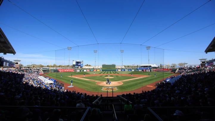 Feb 25, 2017: A general view of the Surprise Stadium during a spring training game between the Kansas City Royals and the Texas Ranger at Surprise Stadium.
