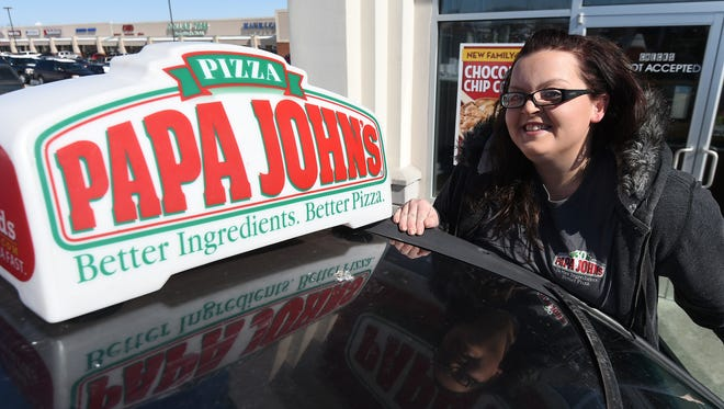 Ashley Ray says she was just doing her job Monday night, but the customer who ordered a pizza thought she went above and beyond when her car slid off the street and she walked up an icy hill in freezing temperatures to complete the delivery. The customer posted the story on Facebook and it's gotten more than 3,100 likes.