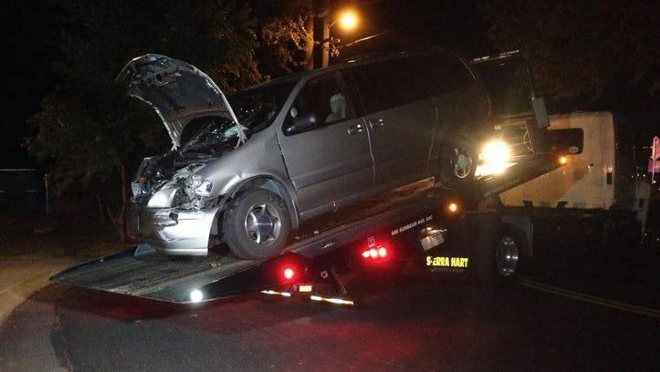 MONDAY, OCT. 20, 2014: Van that struck a home in West