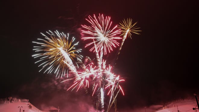 Fireworks are part of the New Year's Eve celebration at Wilmot Mountain.