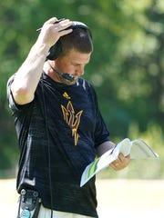 ASU offensive coordinator Billy Napier at Camp Tontozona