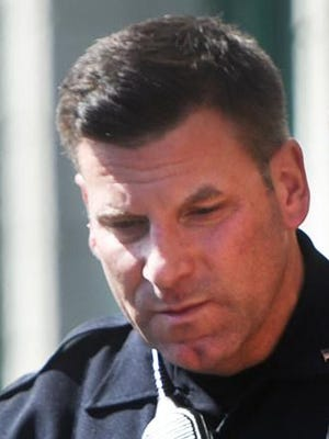 R.J. Letendre is seen in his role as a Dover police officer.